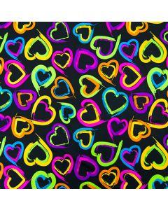 Lycra - Badelycra Stoff mit Herzen