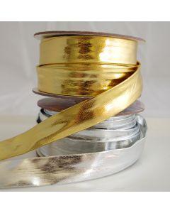 Schrägband - Einfassband in gold oder silber - 20mm breit