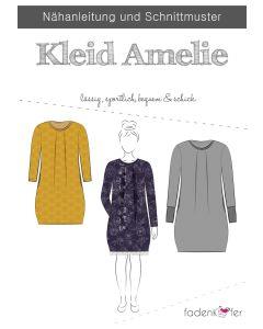 Schnittmuster für ein Kleid - Ballonkleid 'Amelie' von Fadenkäfer