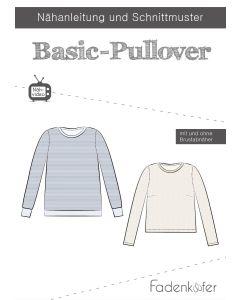 Schnittmuster für Basic Pullover von Fadenkäfer in verschiedenen Varianten: für Männer, Damen und Kinder - einfach zu Nähen, für Nähanfängerinnen geeignet.