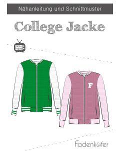 Schnittmuster für College Jacke von Fadenkäfer