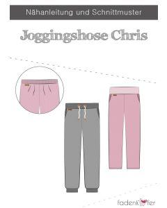 Schnittmuster für eine Jogginghose 'Chris', mit oder ohne Taschen, mit Gummibund oder Kordeln - von Fadenkäfer