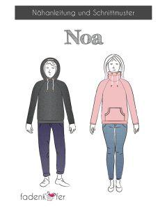 Schnittmuster 'Noa' für Raglanpullover von Fadenkäfer