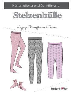 Schnittmuster für Leggings (mit und ohne Fuss) und Socken für Damen oder Kinder von Fadenkäfer. Der Schnitt ist leicht zu nähen, für Näanfängerinnen geeignet.
