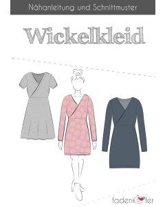 Toller Schnitt für ein Wickelkleid für Damen oder Mädchen von Fadenkäfer - mit zwei verschiedenen Ärmellängen und Rockformen.