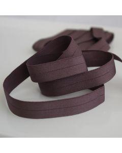 15mm breiter Falzgummi / elastisches Einfassband in dunkler taupe, leicht glänzend für Unterwäsche oder hautenge Bekleidung - top Qualität aus Europa - günsiger Preis -  schnelle Lieferung