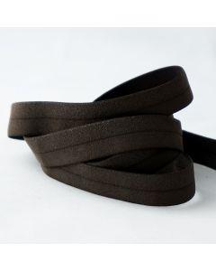 Elastisches Einfassband (Falzgummi) in dunkelrot mit glitzer  - 17mm breit, 5m