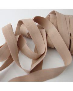 Elastisches Einfassband - Falzgummiband in Hautfarbe - 25mm breit