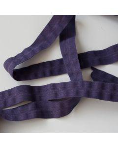 Extra breites elastisches Einfassband (Falzgummi) in aubergine - 16mm breit