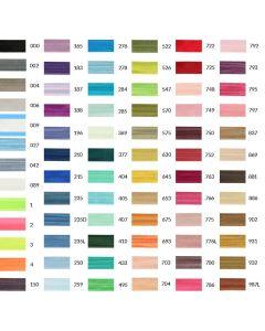 Elastisches uni Einfassband - Einfass-Elastik in 65 Farben: ideal um den Rand von Jersey-Stoffen einzufassen.
