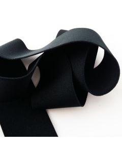 Einfaches Gummiband, schwarz, breit, 1m