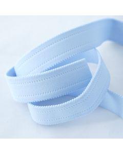Starkes, breites Gummiband in hellblau für Unterhosen und Trainingshosen. 2.6cm breit.