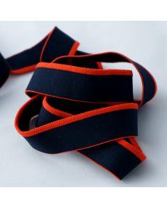 Budgetpackung Gummiband in dunkelblau-orange - 26mm breit - 5m