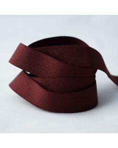 Budgetpackung Gummiband in dunkelrot, glänzend 20mm breit, 5m