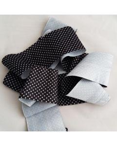 Antirutsch-Gummi - silikonbeschichtet - schwarz getupft, 6 cm breit