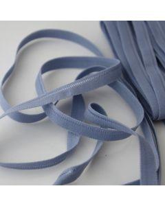 Weiches, dünnes Gummiband in blaugrau für den Bund von Slips und Unterwäsche in 5m-Budgetpackung - 8mm breit