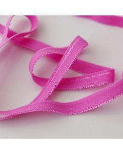 Weiches, dünnes Gummiband in pink für den Bund von Slips und Unterwäsche in 5m-Budgetpackung - 8mm breit