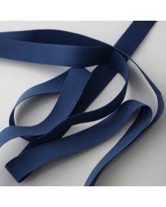 Gummiband in blau - 14mm breit in 5m-Budgetpackung für Slips, Tops und hautnahe Bekleidung.