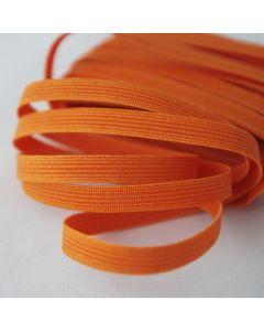Schmales, geripptes Gummiband in orange - 7mm breit in der Budgetpackung à 5m.