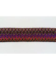 Buntes Gummiband-fuchsia/violett/orange, 6.5 cm breit