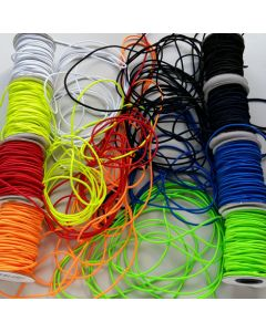 Gummikordel - 2mm breit in 6 Farben