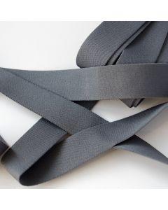 Starkes, weiches Unterhosen-Gummiband in uni dunkelgrau für den Bund von Unterhosen und Trainingshosen - 3cm breit.