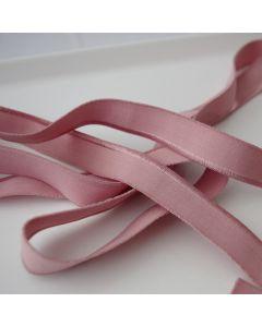 Weiches aber starkes, elastisches Paspelband in altrosa für elastische Stoffe - 17mm breit