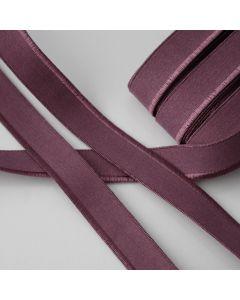 Weiches aber starkes, elastisches Paspelband in aubergine für elastische Stoffe - 17mm breit