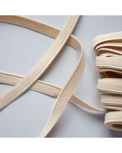 Weiches aber starkes, elastisches Paspelband in beige für elastische Stoffe - 9mm breit