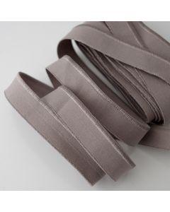 Weiches aber starkes, elastisches Paspelband in taupe für elastische Stoffe - 17mm breit
