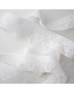 Gummiband für Unterwäsche in weiss - 3cm breit