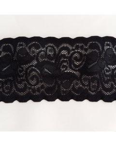 Antirutsch-Spitze, Silikonbeschichtet, schwarz, 6.5cm breit