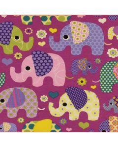 Jersey Stoff mit Elefant-Motiv in lila