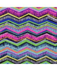 Lycra - Badelycra Stoff mit buntem Zickzack-Muster