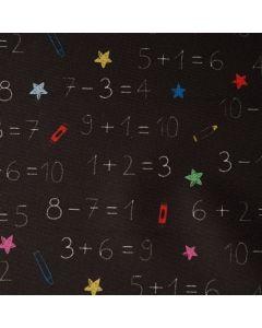 Beschichteter Canvas Stoff 'Mathe' mit Zahlenmuster
