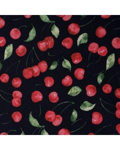 Beschichteter Canvas Stoff mit Kirschenmuster