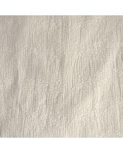 Weicher, doppelt gewobener Musselin Stoff (Double Gauze) in stengrau mit Stickerei für schöne, lockere Sommerkleider, Hosen, Blusen.