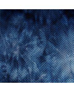 Weicher, bielastischer, schwerer Punta di Roma Stoff in blau-batik mit Zickzack-Struktur. Der Stoff ist perfekt für Damenbekleidung für den Winter: für Kleider mit ausgestelltem Rock, Tunikas; usw.