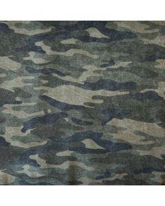 Bielastischer, flauschiger Sweat Stoff mit Tarnanzugmuster (Camouflagemuster) für Pullis, Jacken, Hosen