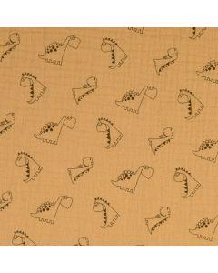 Weicher Musselin Stoff aus 100% Baumwolle in weiss-patinagrün gestreift. Die Streifen sind 14mm breit - der Stoff ist perfekt für Kinder- und Damenbekleidung.