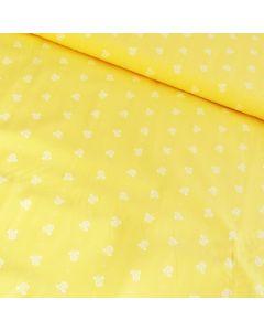Dirndl/Trachten Stoff mit Blümchen, gelb