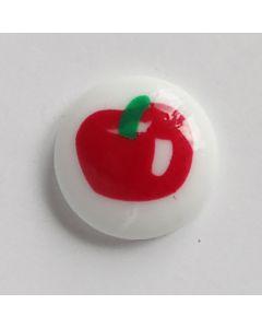 Kinderknopf mit Apfelmotiv - 17mm