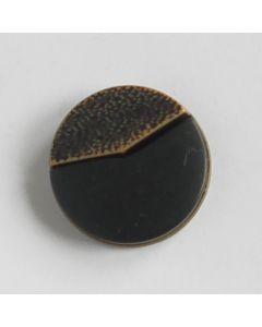 Modeknopf in beige-schwarz - 17mm