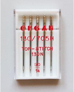 Top Stitch Nadeln oder Quiltnadeln in der Stärke 90 - die Nadeln sind ideal für verschiedene Stepparbeiten, Knopflöcher oder Stickarbeiten.