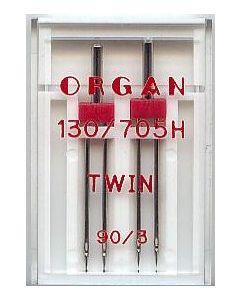 Zwillingsnadel, Stärke: 90, Breite: 3mm, 2Stk.