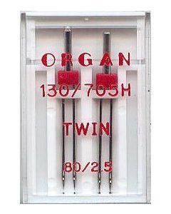 Zwillingsnadeln, Stärke: 80, Breite: 2.5mm, 2 Stk.