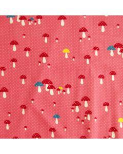 Jersey Stoff mit Pilzmuster für Kinderkleider (Tops, T-Shirts, Tunikas, Leggings) oder Unterwäsche