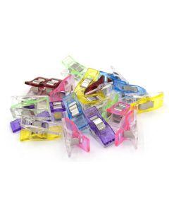 Spitzentraum Wonderclips für verschiedene Näharbeiten. Wonder Clips sind der ideale Ersatz für Stecknadeln, da sie den Stoff nicht verletzen. - Die Packung enthält 20 Stk.