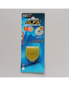 Ersatzklingen für Olfa Rollschneider, 28mm, 10Stk.