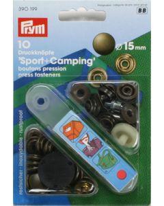 Druckknöpfe 'Sport & Camping', messing, 15mm
